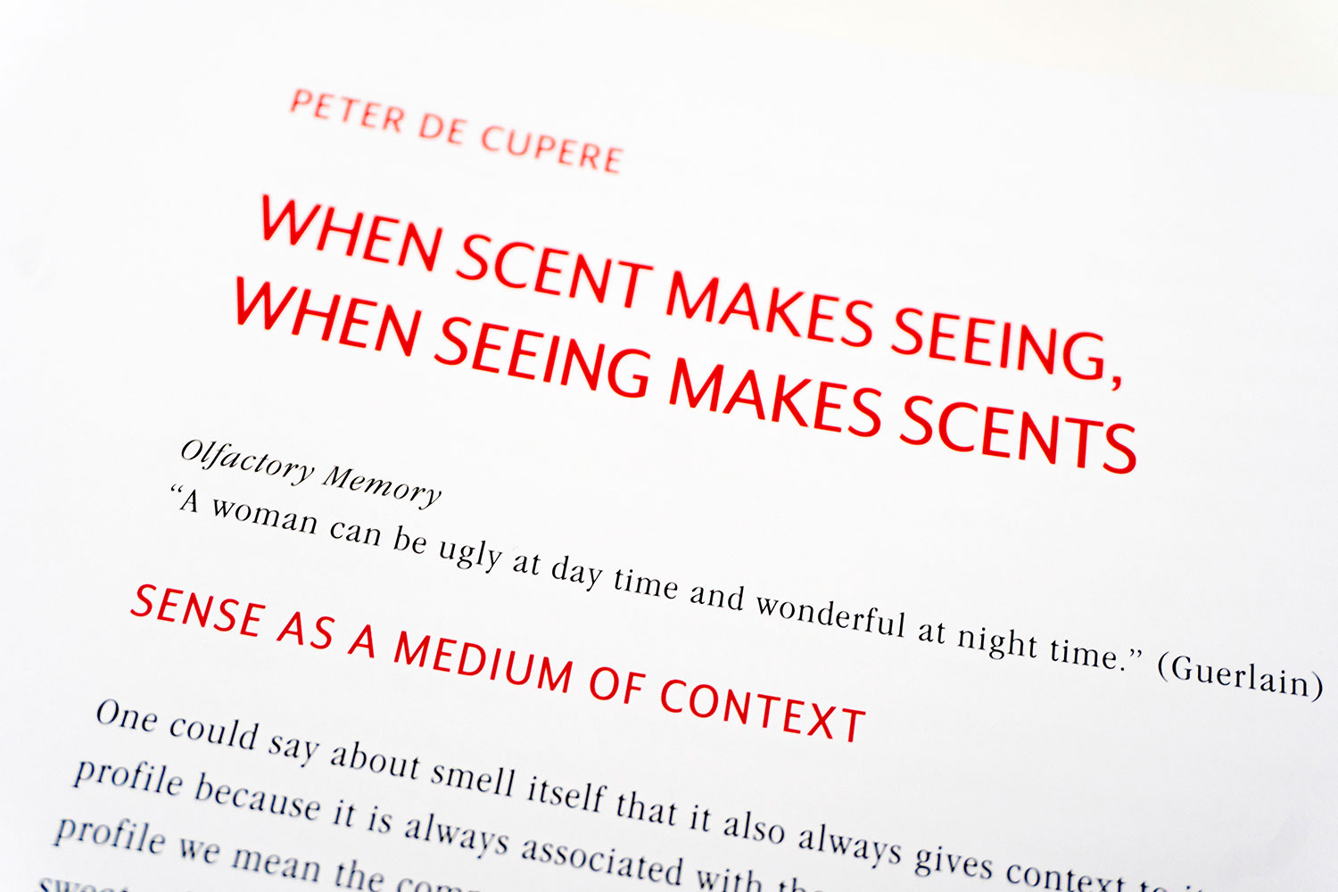 You are browsing images from the article: BOOK, 20 years working with scents